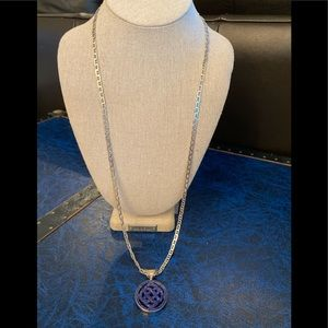 Sterling chain with sterling medallion